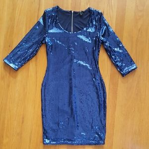 H&M Blue Sequin Dress
